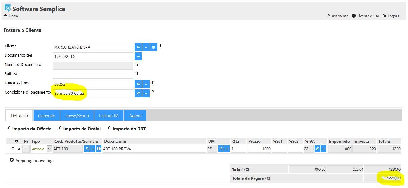 Impostazione personalizzata di date e rate delle scadenze for Scadenze di pagamento